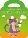 Przyjaciele małpki koloruję i naklejam