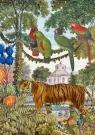 Karnet B6 z kopertą Tygrys w ogrodzie