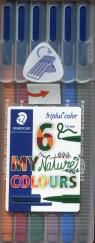 Flamastry Triplus Color 1 mm 6 kolorów etui tropikalne