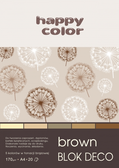 Blok Deco Brown A4/20 (HA 3717 2030-072)