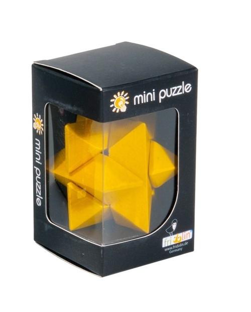IQ-Test 3D Puzzle Gwiazda żółty