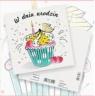 Karnet Urodziny Babeczka 15x15