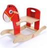 Drewniany konik bujany czerwony (1576941)