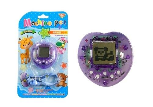 Gra elektroniczna Tamagotchi + smycz fioletowa