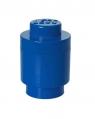 Lego, okrągły pojemnik klocek Brick 1 - Niebieski (40301731)