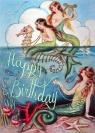 Karnet B6 z kopertą Urodziny Syrenka