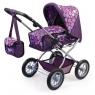 Wózek głęboki dla lalki fioletowy