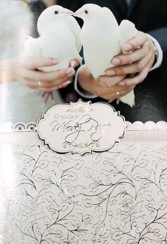 Karnet Ślub Gratulacje Młodej Parze DK-287 DK-287