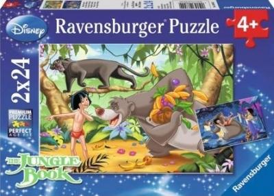 Puzzle Disney Księga dżungli 2x24 (RAP088942)