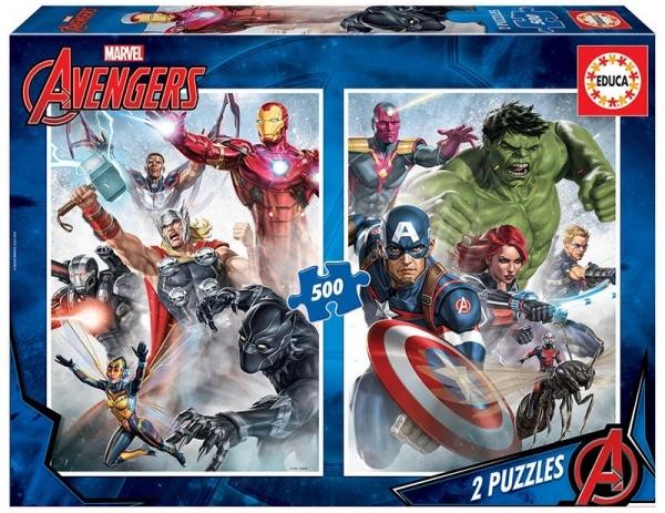 Puzzle 2x500 elementów Marvel Avengers (17994)