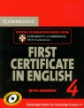 Cambridge 4 First certificate in English