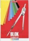 Blok techniczny A4 10 kartek kolorowy