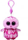 Beanie Boos Clip Pinky - różowa sowa