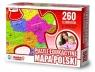 Puzzle edukacyjne Mapa Polski 260 elementów