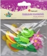 Naklejki piankowe 3D: zwierzątka (kaczki, żaby, kwiatki), mix kolorów i rozmiarów  (EB650F)