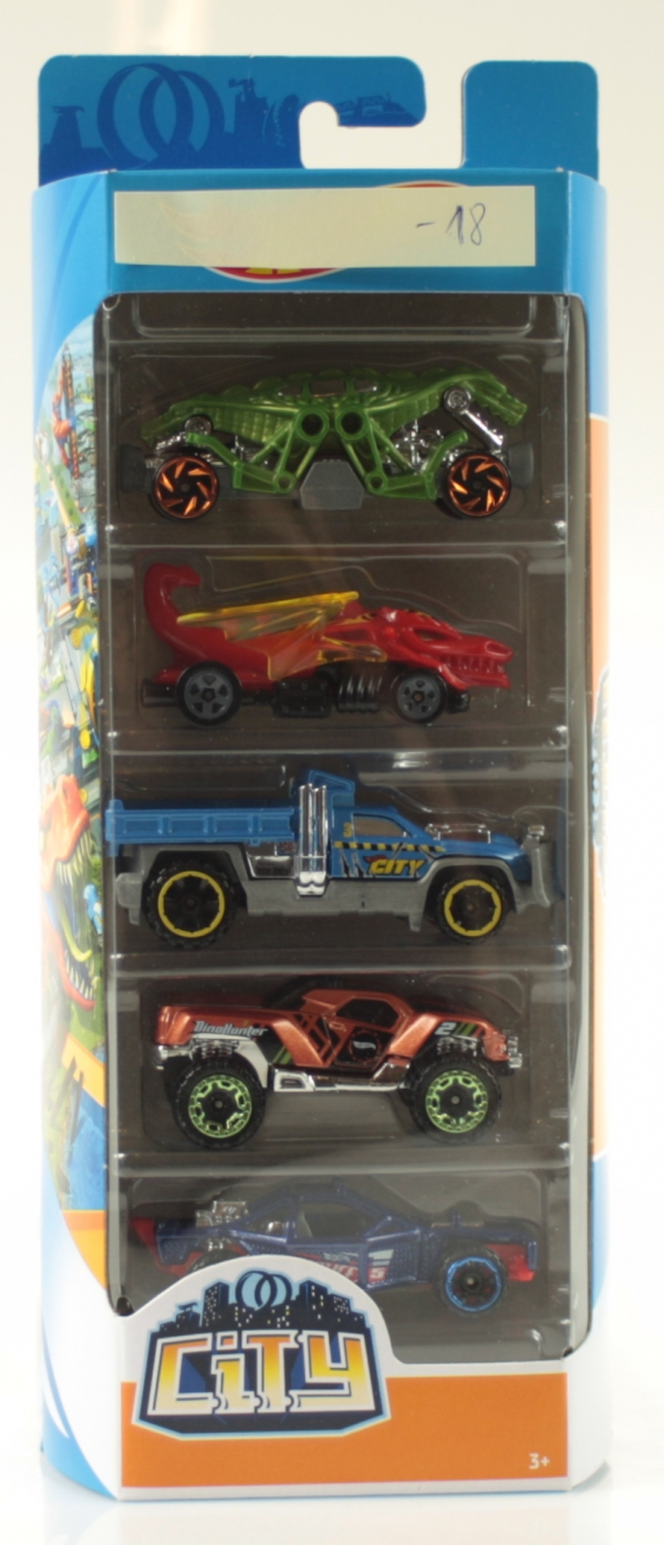 Hot Wheels: Pięciopak - City (01806/FYL25)