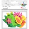 Naklejki piankowe 3D, 12 szt. - zwierzątka (307833)