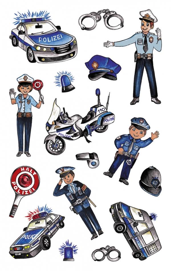 Naklejki foliowe metaliczne - policjanci (56794)