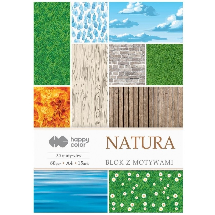 Blok z motywami A4/15 arkuszy - Natura (422205)