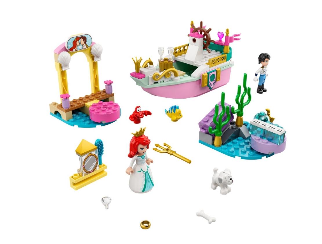 Lego Disney Princess: Świąteczna łódź Arielki (43191)
