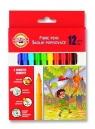Flamastry zmywalne 12 kolorów