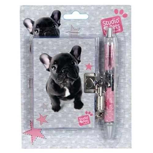Zestaw z pamiętnikiem Studio Pets Mops