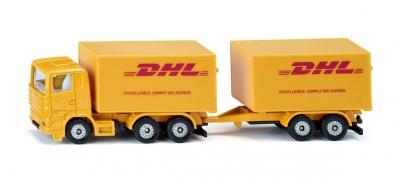 Siku seria 16 Ciężarówka z przyczepą Dhl