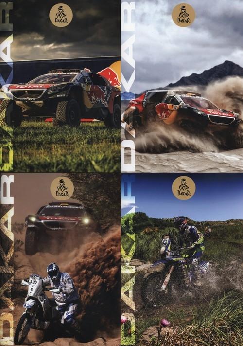 Zeszyt A4 Dakar w linie 54 kartki 10 sztuk mix