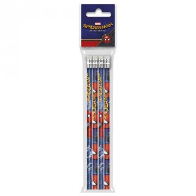 Ołówki z gumką 4szt. Spider-man