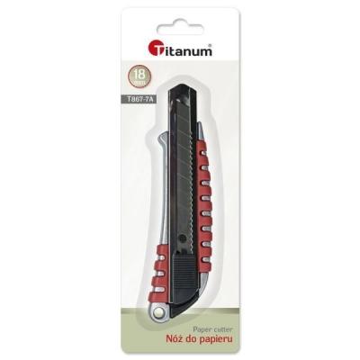 Nóż do papieru 18mm - Czerwony (397434)