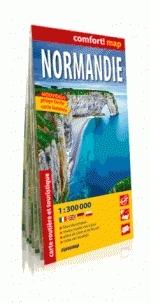 Normandia wersja francuska 1:300 000 laminat Praca zbiorowa