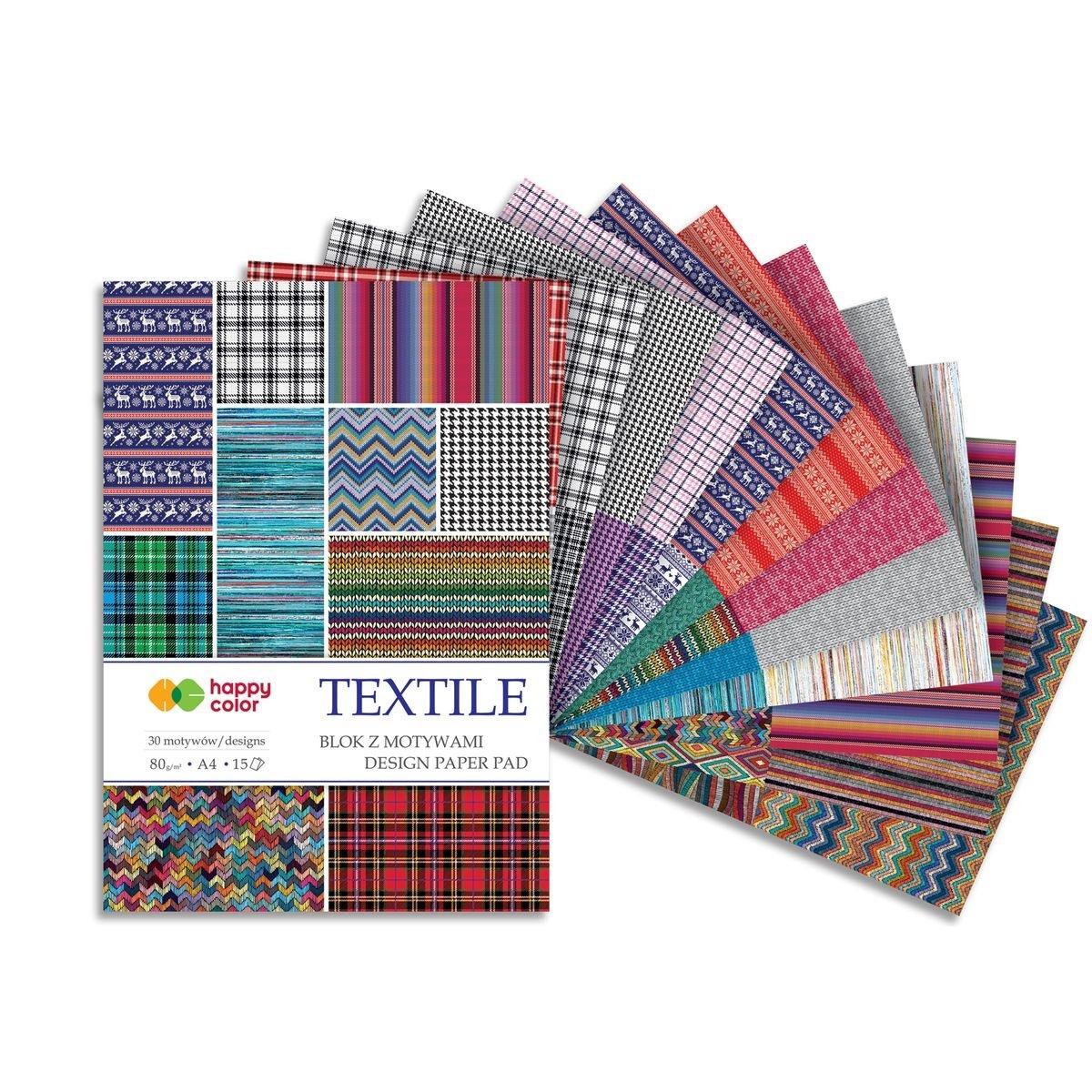 Blok z motywami A4/15 arkuszy - Textile (447317)