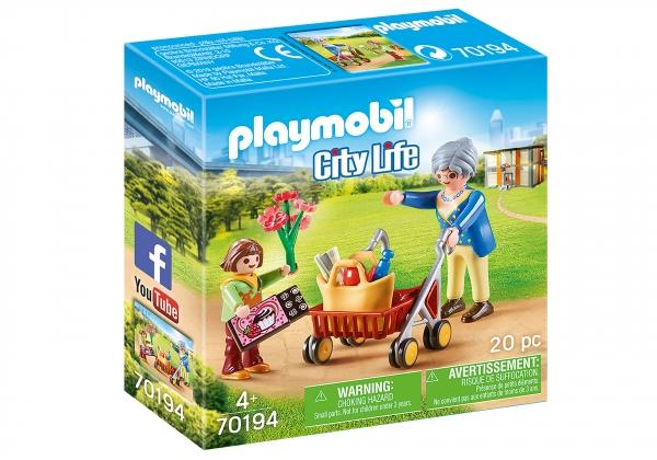 Playmobil City Life: Babcia z chodzikiem (70194)