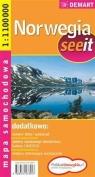 Norwegia seeit mapa samochodowa