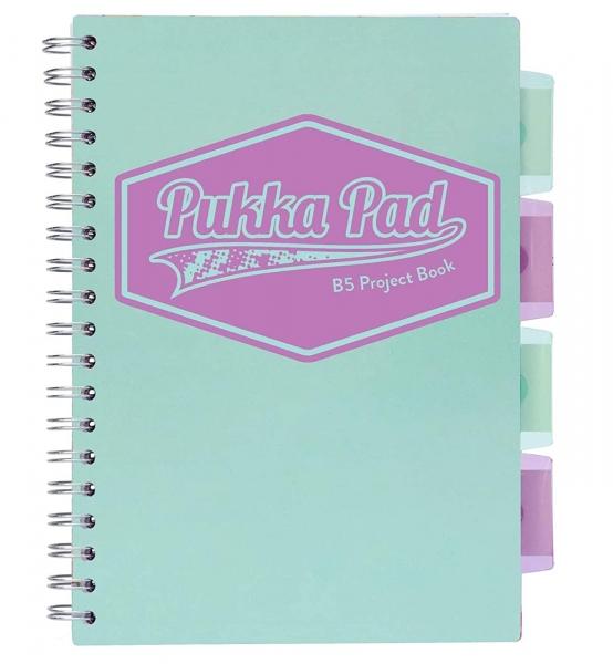 Kołozeszyt Pukka Pad B5 Project Book, 100 kartkowy, kratka, morski (3032S(TL)-PST)