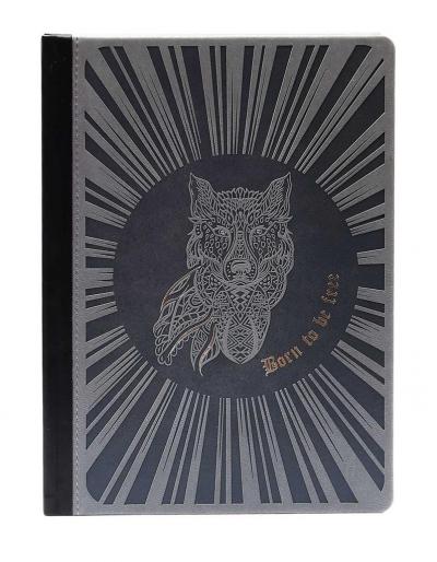 Notatnik A5 Ltd M+ kropki Wilk szary