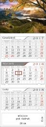 Kalendarz trójdzielny Jesienny zachód 2018