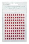 Kryształki samoprzylepne 6 mm 100 szt Ruby
