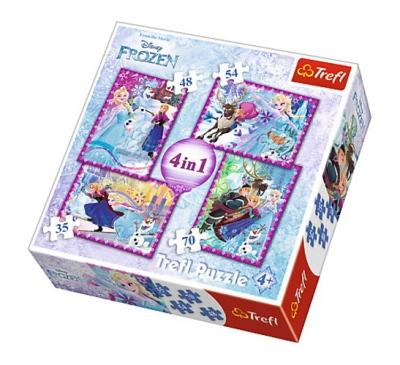 Puzzle 4w1 Kraina Lodu Zimowe szleństwo