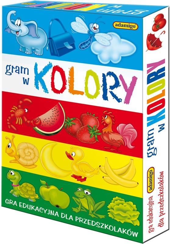 Gram w kolory Gra edukacyjna dla przedszkolaków (5949) (Uszkodzona okładka)
