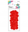 Pompony 25mm, czerwone (352959)