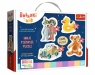 Puzzle Baby Classic 4w1: Urocze Bobaski - Dobranoc, Trefliki na noc (36095)