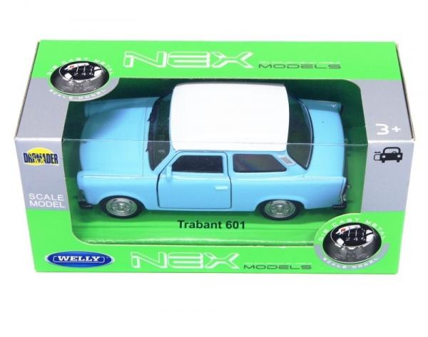 Model kolekcjonerski Trabant 601, niebieski z białym dachem (24037-3)