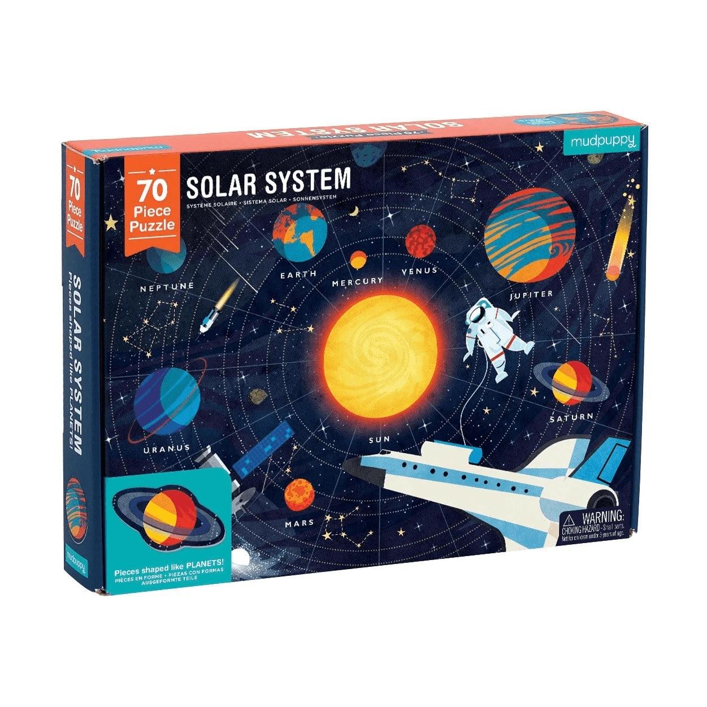 Mudpuppy, Puzzle 70: Układ Słoneczny z elementami w kształcie planet (MP51950)