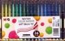 Pisak artystyczny pędzelkowy 1-4 mm wodny 36 kolorów