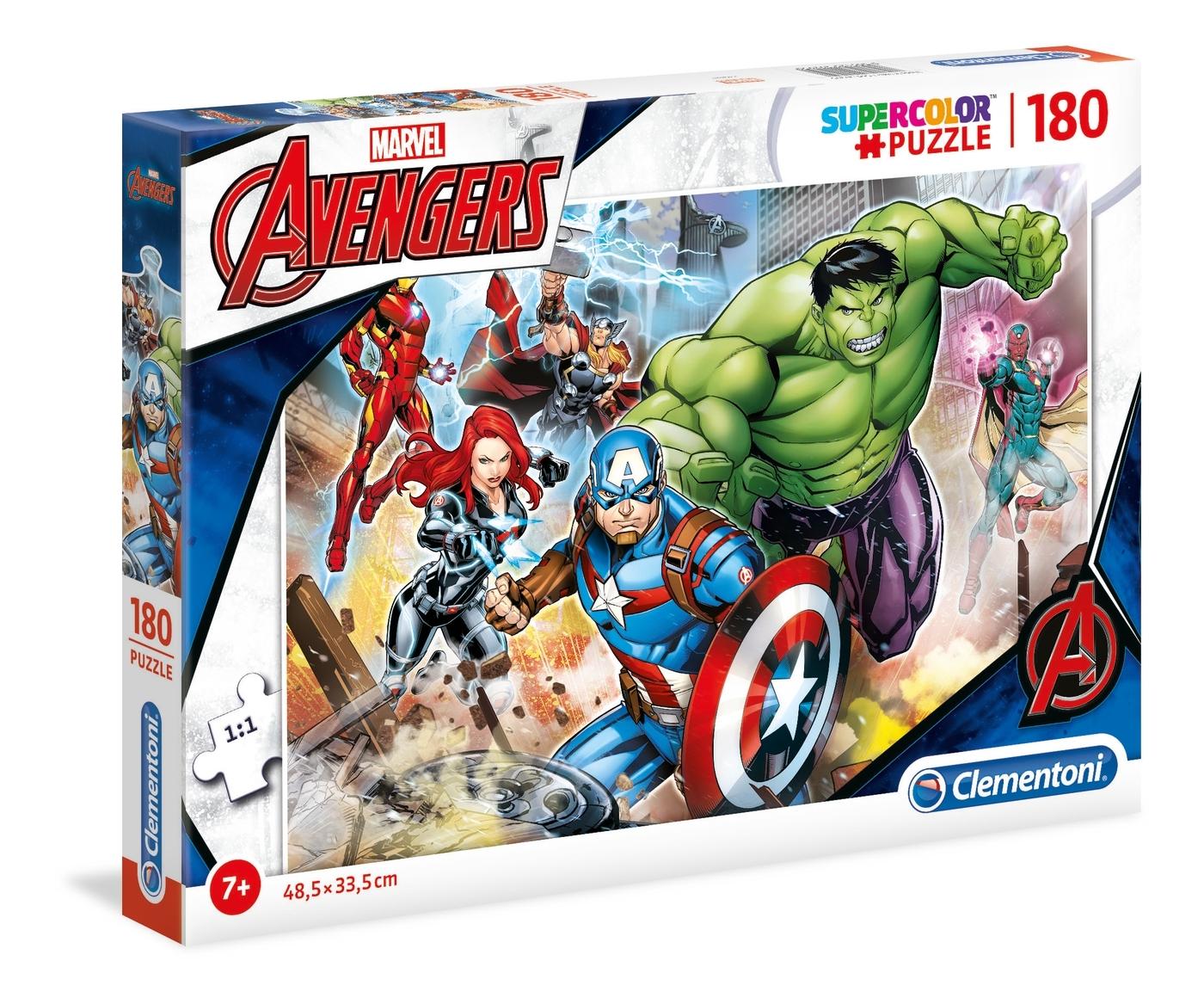 Puzzle SuperColor 180: The Avengers (29295)