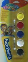 Farby do malowania twarzy Colorino 5 kolorów