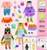Zestaw kreatywny z naklejkami Koty (DJ09695)