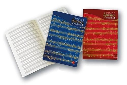 Zeszyt do muzyki A4 Pigna Misica pięciolinia 32 kartki mix kolorów