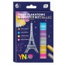 Farby plakatowe w sztyfcie Metallic, 6 kolorów (443486)